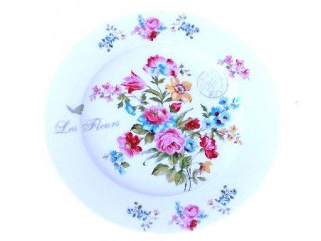 """Десертная тарелка R2S """"Цветы"""" 19 см цвет белый (Les Fleurs R0944JAS)"""