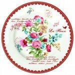 """Набор тарелок на 6 персон R2S """"Цветы"""" 26,5 см цвет красный (Les Fleurs R0942JASR)"""