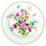 """Набор тарелок на 6 персон R2S """"Цветы"""" 26,5 см цвет серый (Les Fleurs R0942JASK)"""