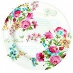 """Тарелка R2S """"Цветы"""" 26,5 см цвет белый (Les Fleurs R0942JAS)"""