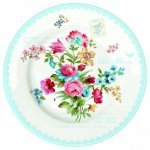 "Тарелка R2S ""Цветы"" 26,5 см цвет голубой (Les Fleurs R0942JASB)"
