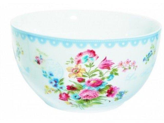 "Салатник R2S ""Цветы"" 15 см цвет голубой Les Fleurs R0948JASB"