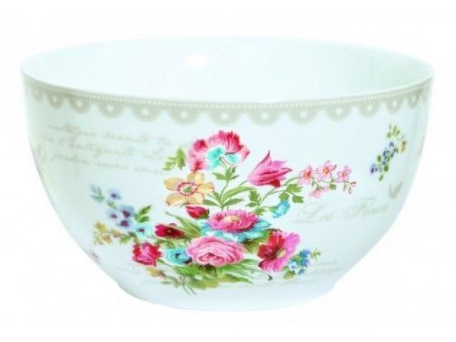 """Салатник R2S """"Цветы"""" 15 см цвет серый Les Fleurs R0948JASK"""