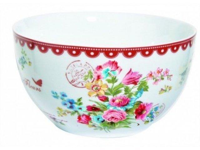 """Набор салатников R2S """"Цветы"""" 15 см цвет красный Les Fleurs R0948JASR"""