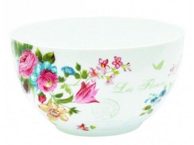 "Набор салатников R2S ""Цветы"" 18 см цвет белый Les Fleurs R0949JAS"