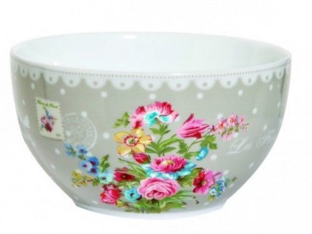 """Набор салатников R2S """"Цветы"""" 12 см цвет серый Les Fleurs R0947JAFK"""