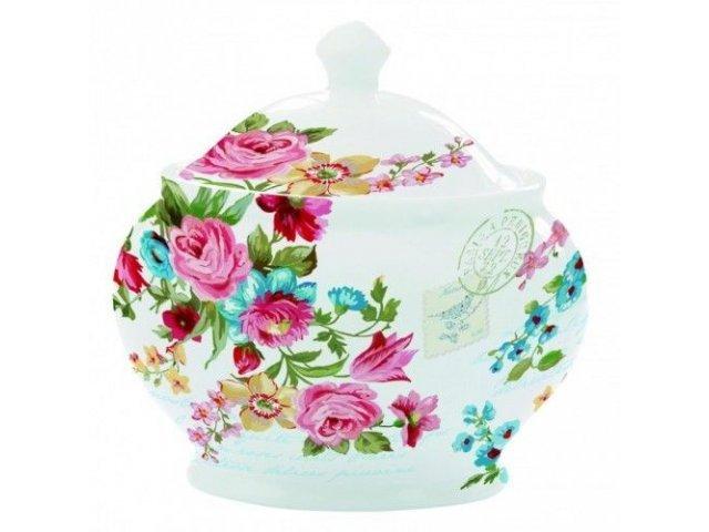 """Сахарница  R2S """"Цветы"""" цвет белый Les Fleurs R0932JAS"""