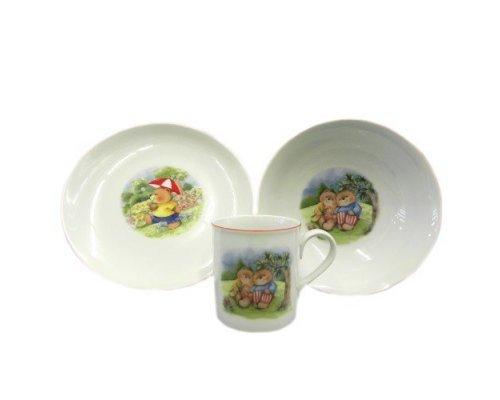 Детский набор посуды Leander Мишки 3 предмета с кружкой 0,20л фарфоровый