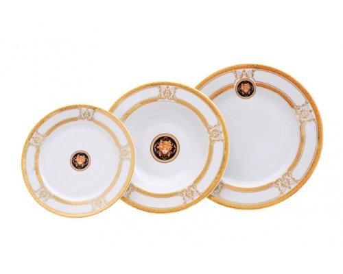 """Набор тарелок Leander """"Версаче A126"""" на 6 персон 18 предметов (19+23+25см)"""