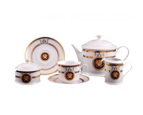 """Сервиз чайный Leander """"Версаче A126"""" Золотая лента на 12 персон 27 предметов"""