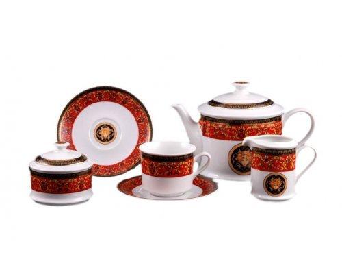 """Сервиз чайный Leander Сабина """"Версаче красная линия"""" на 12 персон 27 предметов"""