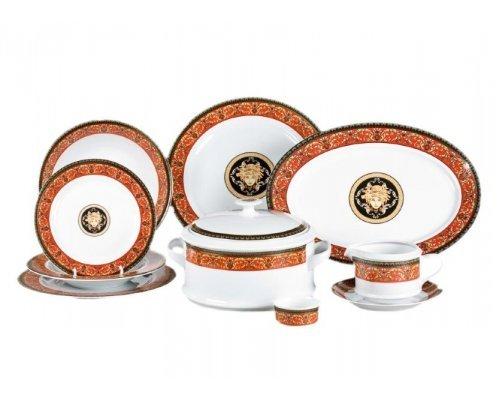 "Чайно-столовый сервиз Leander Сабина ""Версаче красная линия"" на 6 персон 40 предметов"