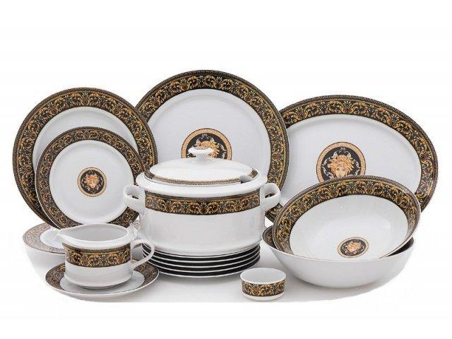 "Чайно-столовый сервиз Leander Сабина ""Версаче"" на 6 персон 40 предметов"