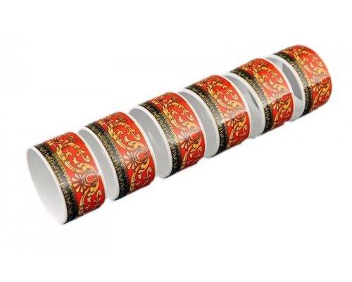 """Набор колец для салфеток Leander Сабина """"Версаче красная линия"""" 6 персон"""