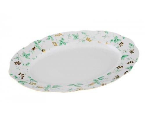 """Блюдо овальное Leander Мэри-Энн """"Зеленые цветы"""" 36см"""