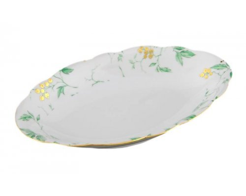 """Блюдо овальное Leander Мэри-Энн """"Зеленые цветы"""" 23см"""