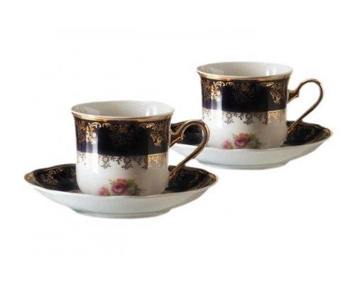 """Набор из двух чайных пар Leander """"Мэри-Энн Кобальт 0086"""" 0.20 л"""