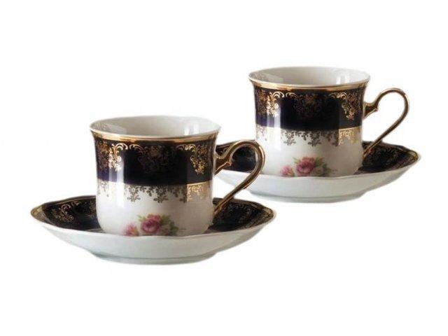 """Набор из двух чайных пар Leander """"Мэри-Энн Кобальт 0086"""" 0,20 л"""