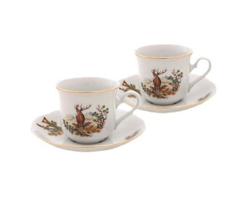 "Набор из двух чайных пар Leander Мэри-энн ""Охота"" 0.20 л"