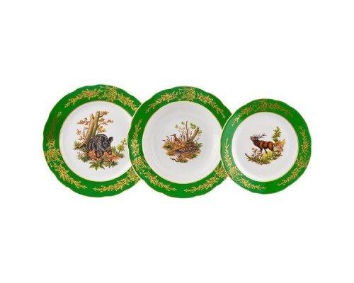 "Набор тарелок Leander Мэри-Энн ""Царская Охота"" на 6 персон 18 предметов (19+23+25см)"