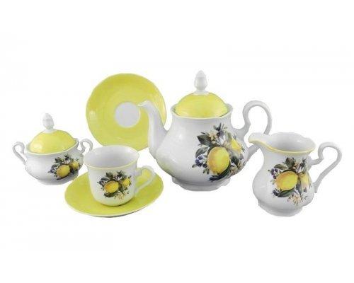 """Сервиз чайный Leander """"Мэри-Энн Лимоны 2411"""" на 6 персон 15 предметов"""