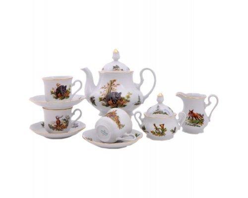 """Сервиз чайный Leander Мэри-энн """"Охота"""" на 12 персон 27 предметов"""