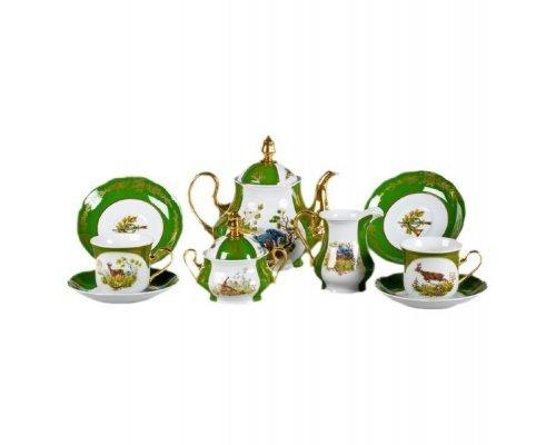 """Сервиз чайный Leander """"Мэри-Энн Царская охота 0763"""" на 12 персон 27 предметов"""