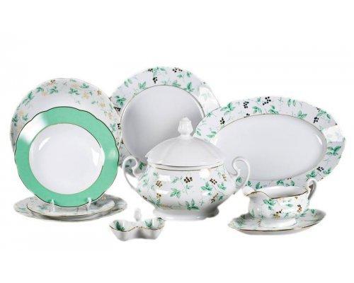 """Чайно-столовый сервиз Leander Мэри-Энн """"Зеленые цветы"""" на 6 персон 40 предметов"""