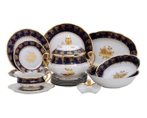"""Чайно-столовый сервиз Leander """"Мэри-Энн 0431"""" Золотая роза на 6 персон 40 предметов"""