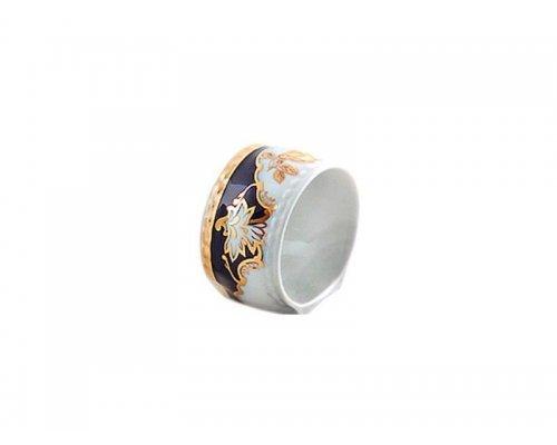 """Кольцо для салфеток большое Leander Соната """"Кобальт 1457"""""""