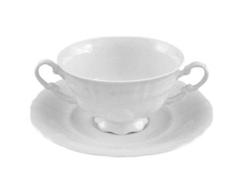 "Чашка для супа с блюдцем Leander ""Соната 0000"" 0,35л"