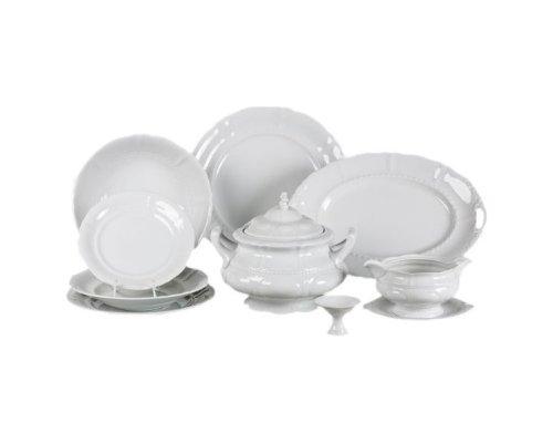 """Чайно-столовый сервиз белый Leander """"Соната 0000"""" на 6 персон 40 предметов"""