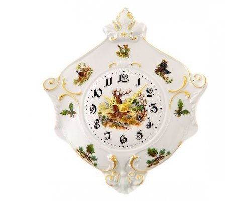 "Часы настенные гербовые Leander Мэри-энн ""Охота"" 27см"