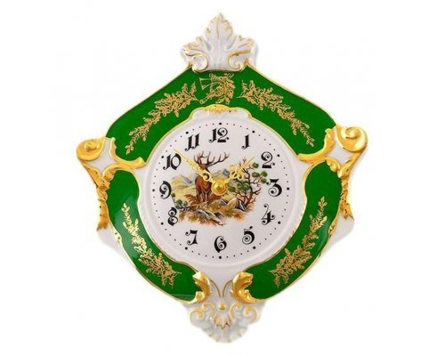 """Часы настенные гербовые Leander Мэри-Энн """"Царская Охота"""" 27см"""