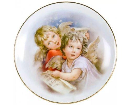 Тарелка настенная 21 см, Ангелочки 02110141-157B