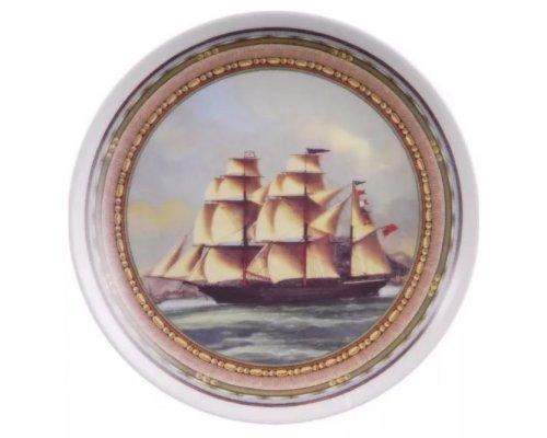 Тарелка настенная 21 см, Парусники 02110141-C903