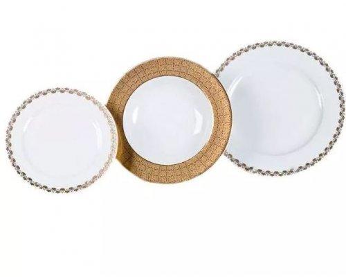 """Набор тарелок Leander """"Сабина 2328"""" на 6 персон 18 предметов (19+23+25см)"""