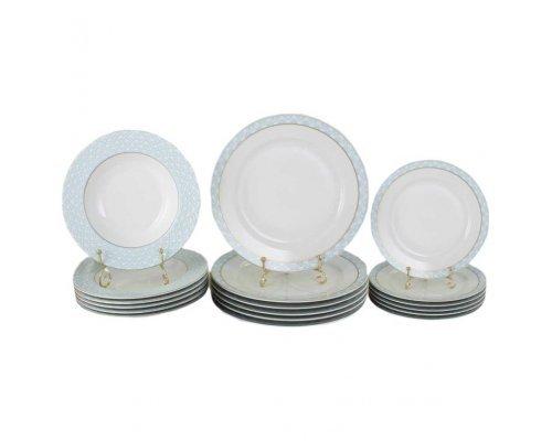 """Набор тарелок 18 предметов Leander """"Сабина 243B"""""""