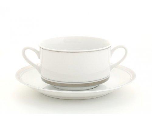 Набор чашек для супа с блюдцами Leander Сабина 6 персон 0,30л