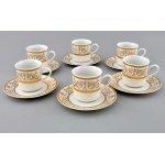 """Чайно-столовый сервиз Leander Сабина """"Золотые узоры"""" на 6 персон 40 предметов"""