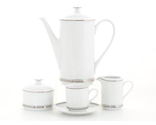Сервиз кофейный Leander Сабина на 6 персон 15 предметов, чашки 0,15л