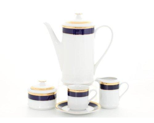 """Сервиз кофейный Leander """"Сабина 0767"""" на 6 персон 15 предметов чашки 0,15л"""