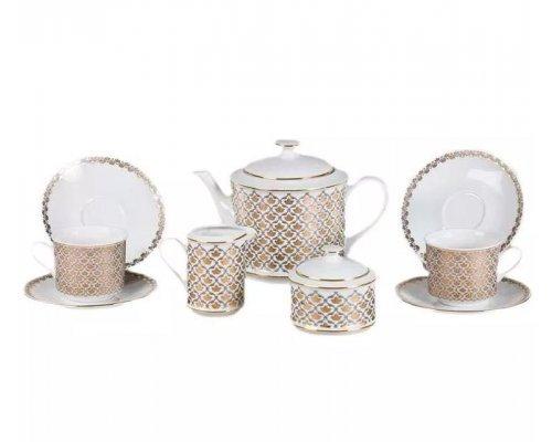 """Сервиз чайный Leander """"Сабина 2328"""" на 6 персон 15 предметов"""