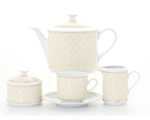 """Сервиз чайный Leander """"Сабина 243D"""" на 6 персон 15 предметов"""