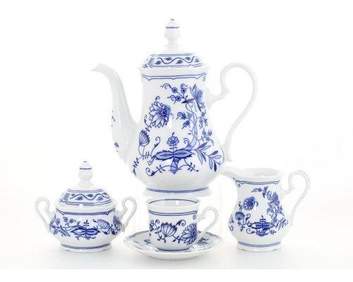 """Сервиз кофейный Leander Мэри-Энн """"Луковый рисунок"""" на 6 персон 15 предметов, чашки 0,15л"""
