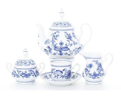 """Сервиз чайный Leander Мэри-Энн """"Луковый рисунок"""" на 12 персон 27 предметов"""