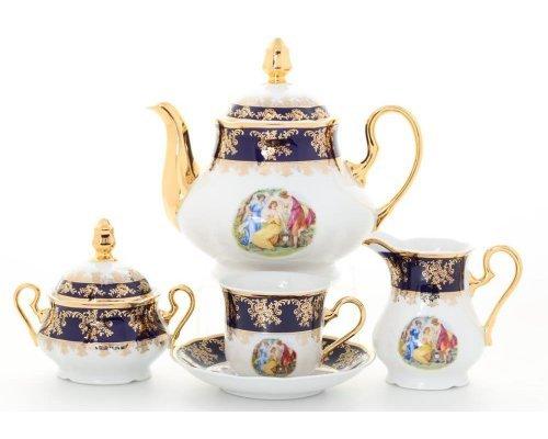 """Сервиз чайный Leander Мэри-Энн """"Мадонна кобальт 0179"""" на 6 персон 15 предметов"""