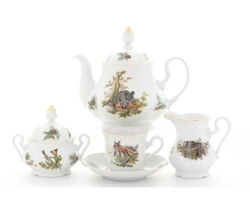 """Сервиз чайный Leander Мэри-энн """"Охота"""" на 6 персон 15 предметов"""