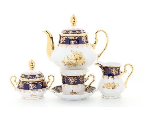 """Сервиз чайный Leander """"Мэри-Энн 0431"""" Золотая роза на 12 персон 27 предметов"""