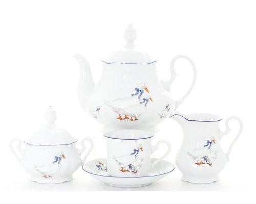 """Сервиз чайный Leander Мэри-Энн """"Гуси"""" на 12 персон 27 предметов"""